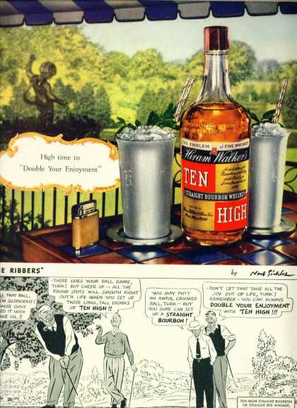 Hiram Walker's Ten High Bourbon Whiskey (1941)