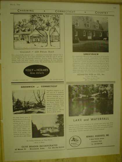 Real Estate Connecticut Newhill Olive Braden Kelly Homes Kenneth Ives AND Clarke Cushing Wheeler Sparre Agency (1964)