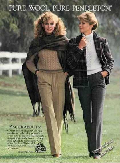Pure Wool Pure Pendleton Nice Fashion (1982)