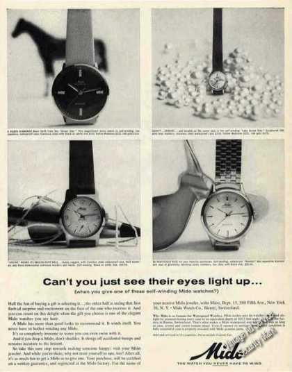 Mido Watches Collectible Photos (1963)