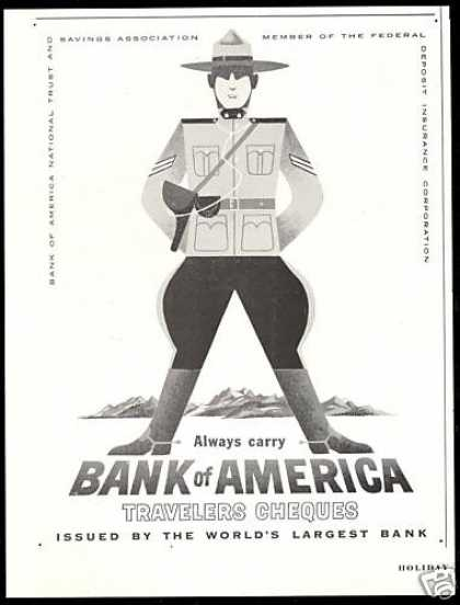Bank of America Canadian Mountie RCMP Vintage (1954)