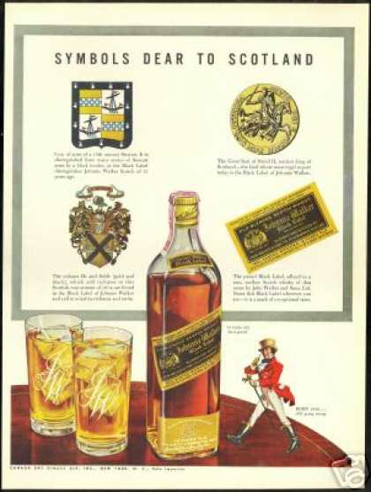 Scotland Symbols Johnnie Walker Scotch Vintage (1941)