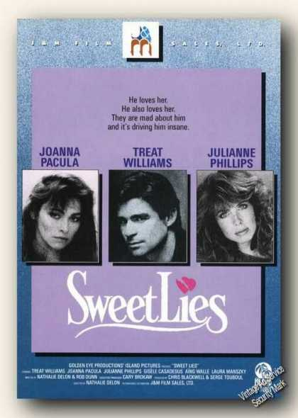 Sweet Lies Movie Rare (1986)
