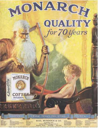 Monarch, Coffee Old Father Time, USA (1920)