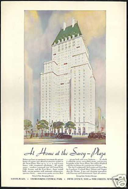 Savoy Plaza Hotel New York Vintage (1938)