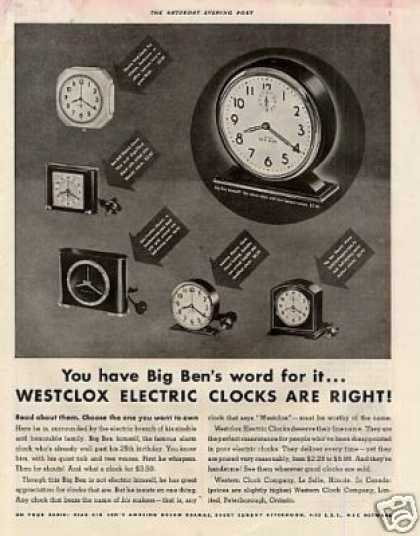 Westclox Electric Clocks (1935)