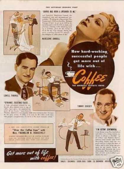 Pan American Coffee Ad Madeleine Carroll (1941)
