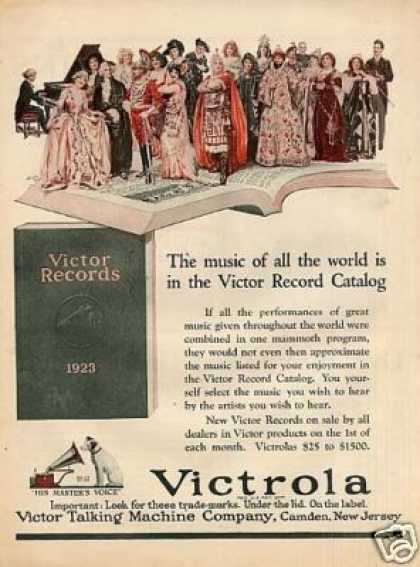 Rca Victor Records Color Ad Norman Price Art (1923)