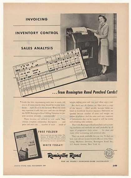 Remington Rand Punched Card Billing Tabulator (1948)