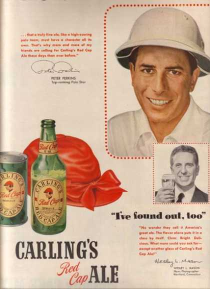 Carling&#8217;s Red Cap Ale (1950)
