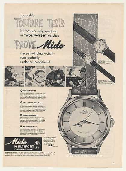 Mido Multifort Super-Auto Watch Torture Tests (1952)