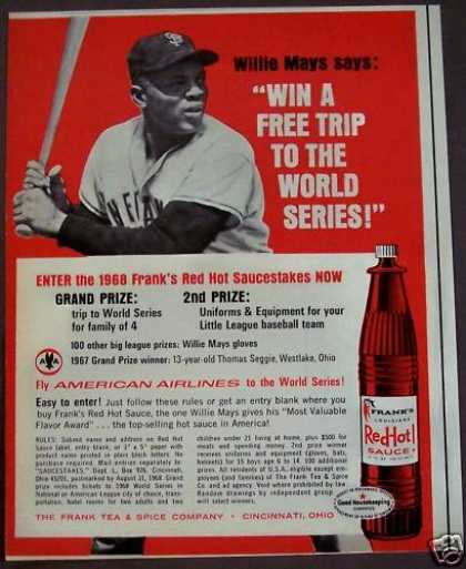 Frank's Red Hot Sauce Willie Mays (1968)