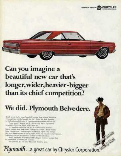 Red Plymouth Belvedere Collectible Car (1966)