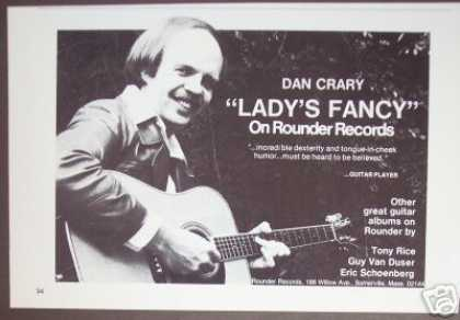78 Dan Crary Record Album Lady&#8217;s Fancy Promo