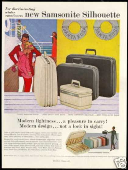 Santa Rosa Cruise Ship Samsonite Luggage (1959)