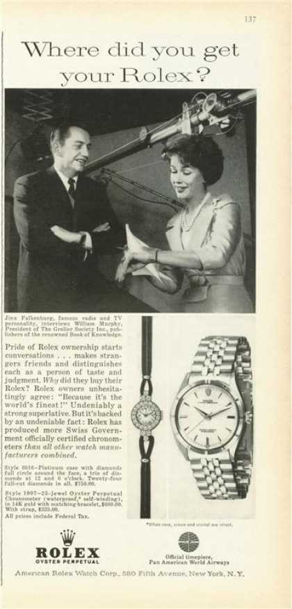 Rolex Perpetual Oyster Diamond Lady Watch (1961)