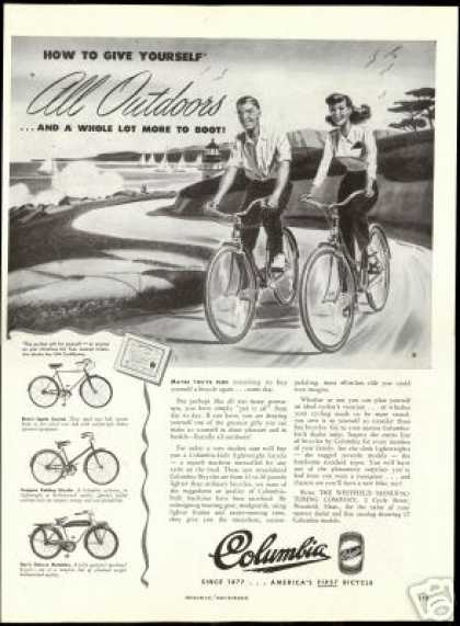 Columbia Bike Bicycle 3 Styles Vintage (1947)