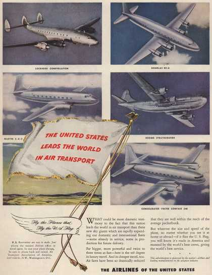 The Airlines of the United State's Air Travel – The United States Leads The World In Air Transport (1946)
