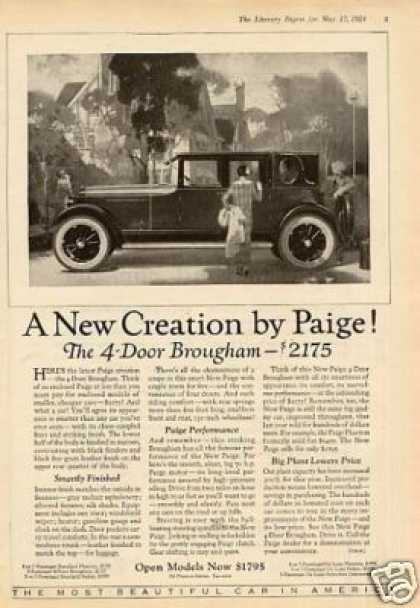Paige 4-door Brougham Car (1924)