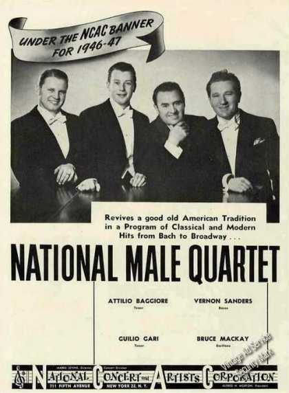 National Male Quartet Photo Booking (1946)