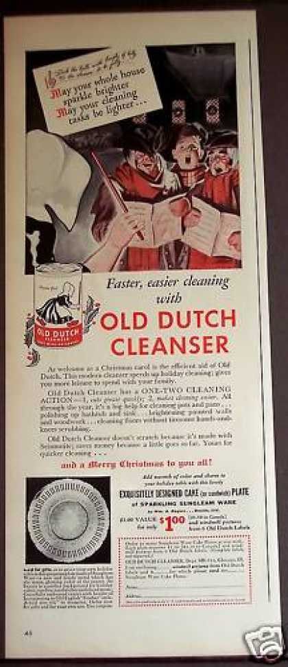 Old Dutch Cleanser X-mas Carolers (1939)