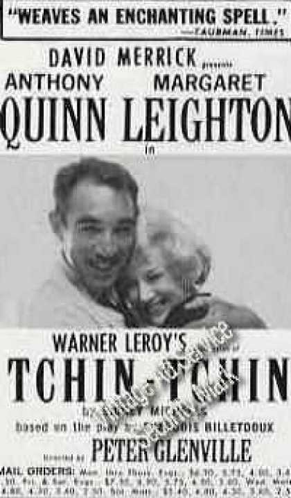 "Anthony Quinn/margaret Leighton ""Tchin-tchin"" (1963)"