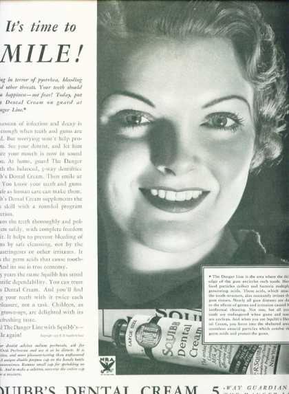Squibb's Dental Cream Very Pretty Woman (1933)