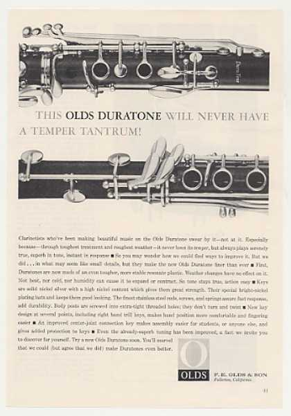 F E Olds Duratone Clarinet Photo (1963)