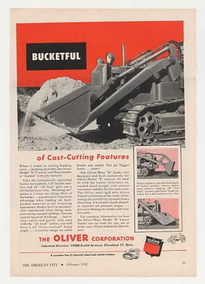 Oliver Model B Crawler Ware Loader Tractor (1952)