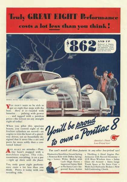 Pontiac 8 Car Americas Finest (1939)