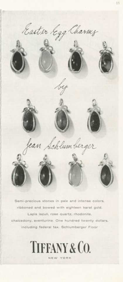 Tiffany & Co. Easter Egg Charms Semi Precious (1959)