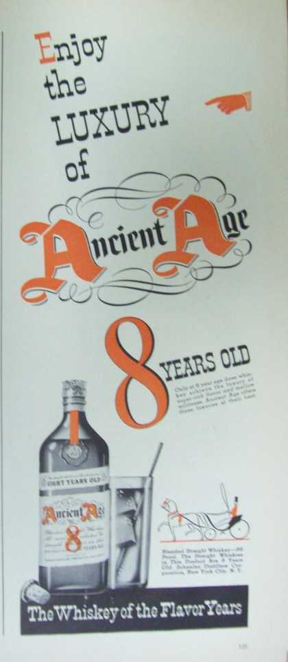 Ancient Age Whiskey of Flavor (1941)