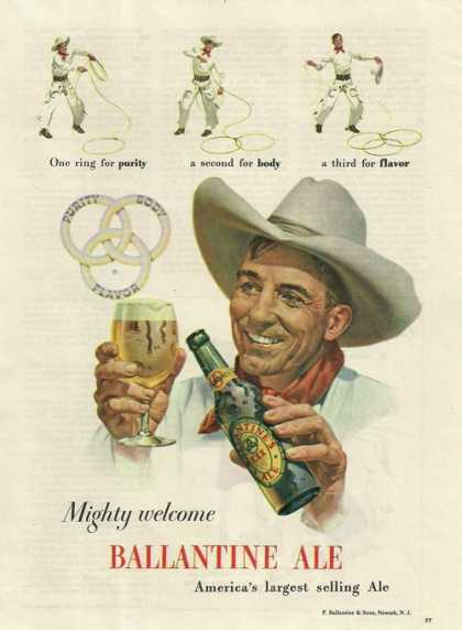 Mighty Welcome Ballantine Ale Beer (1948)