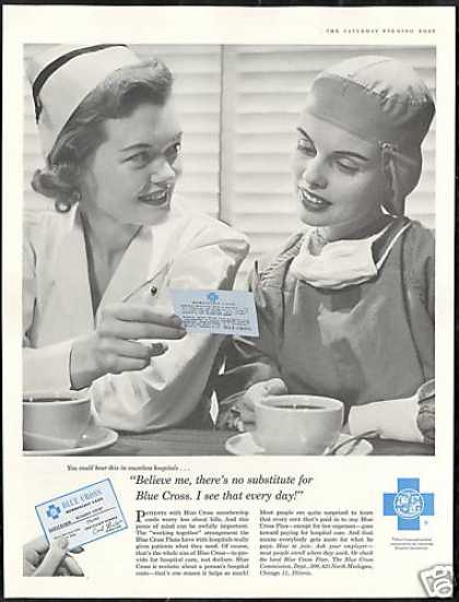 Blue Cross Plans Membership Nurse Photo (1956)