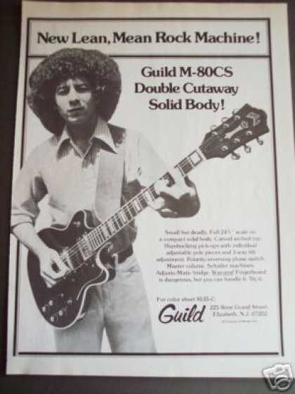 Guild M-80cs Dbl Cutaway Electric Guitar Photo (1976)