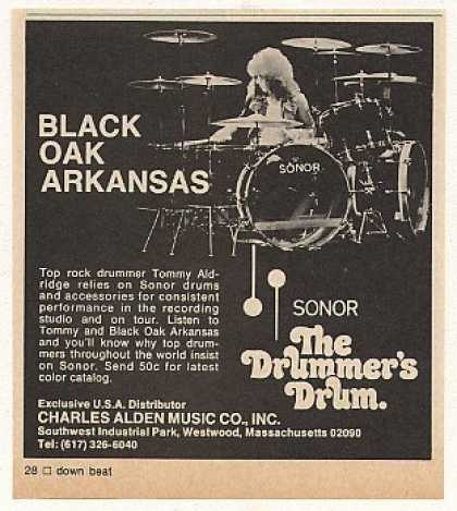 Black Oak Arkansas Tommy Aldridge Sonor Drums (1976)