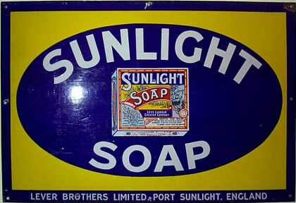 Sunlight Soap Packet Sign