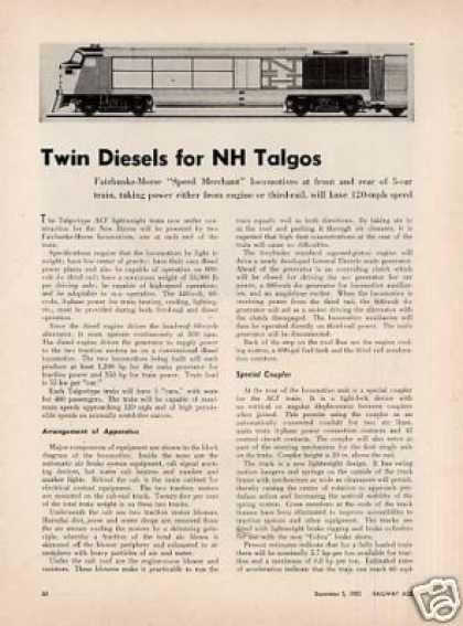 """Twin Diesels for Nh Talgos"" Article/f-m P-12-42 (1955)"