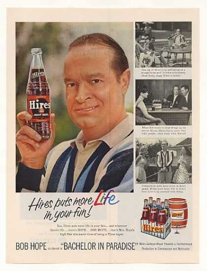 Bob Hope Hires Root Beer Puts Life in Fun Photo (1961)