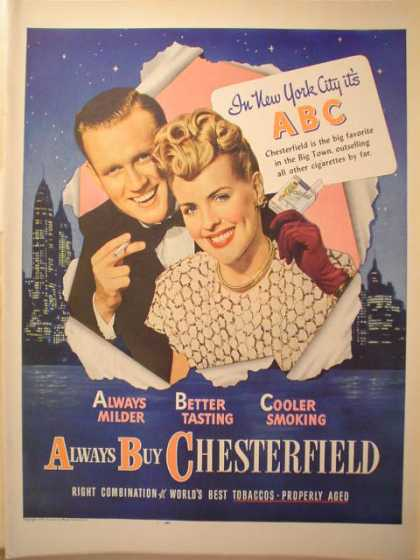 Chesterfield Cigarettes New York City ABC (1946)