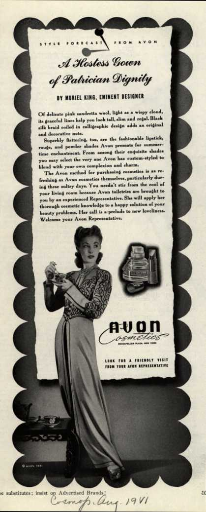 Avon – A Hostess Gown of Patrician Dignity (1941)