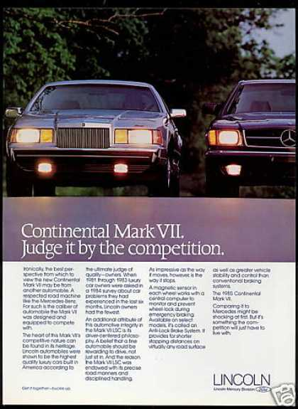 Lincoln Continental Mark VII & Mercedes (1985)