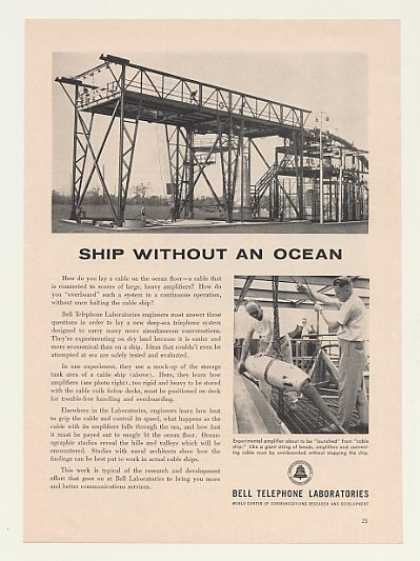 Bell Telephone Amplifier Mock-Up Cable Ship (1960)