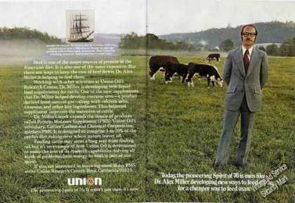 Union 76 Ad Dr. Alex Miller Cattle Feed Promo (1975)