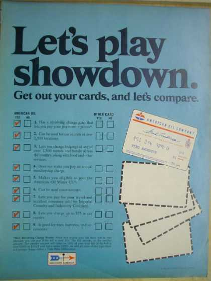 American Oil Co Gas Lets play showdown (1968)