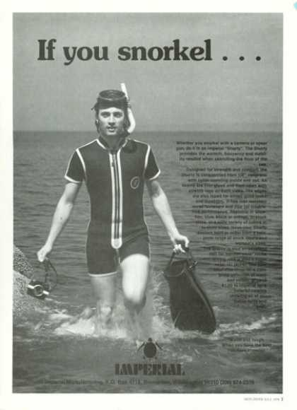 Imperial Shorty Diver Wet Suit Snorkel (1978)