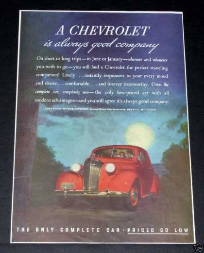 Chevrolet, Always Good Company (1937)