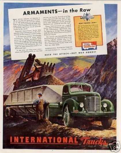 "International Truck Ad ""Armaments In the Raw... (1944)"