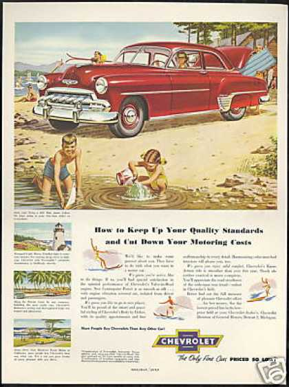 Chevrolet 2 Dr Sedan Miller Art Vintage (1952)