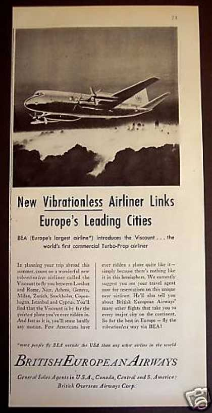 British European Airways Turbo Prop Airliner (1953)